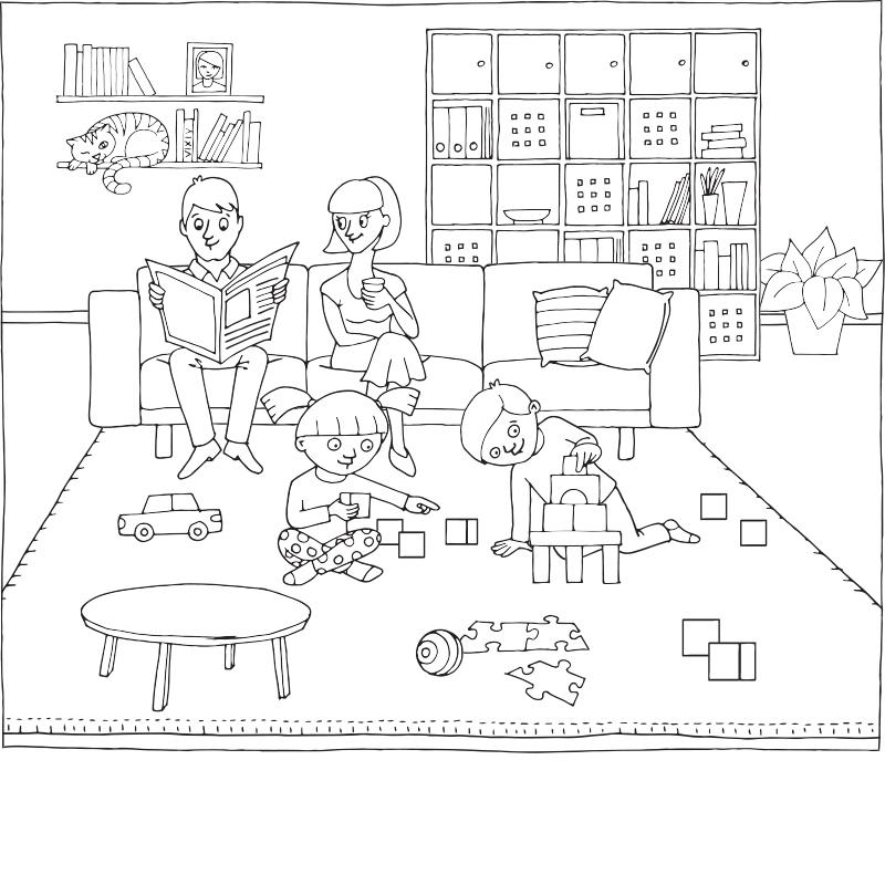 Kleurplaten IKEA | Anna tekent